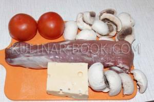Ингредиенты для приготовления мяса под сыром