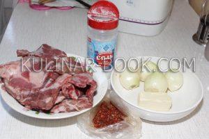 Ингредиенты для приготовления телячьих ребрышек в мультиварке