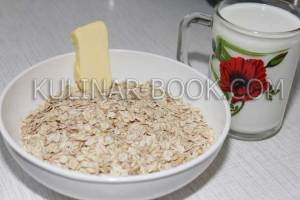 Ингредиенты для овсяной каши в мультиварке