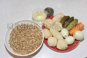 Ингредиенты для приготовления рассольника в мультиварке