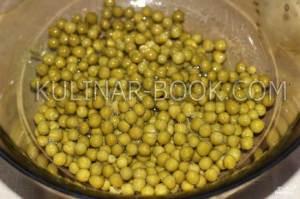 Зеленый горошек для салата оливье