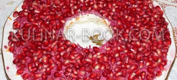 Салат гранатовый браслет классический рецепт с пошаговыми фото