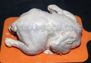 Курица гриль намазанная майонезом, специями и солью