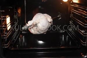 Курица гриль на вертеле в духовке